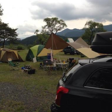 ファミキャンしよう2016 at くのわき親水公園キャンプ場(大井川)